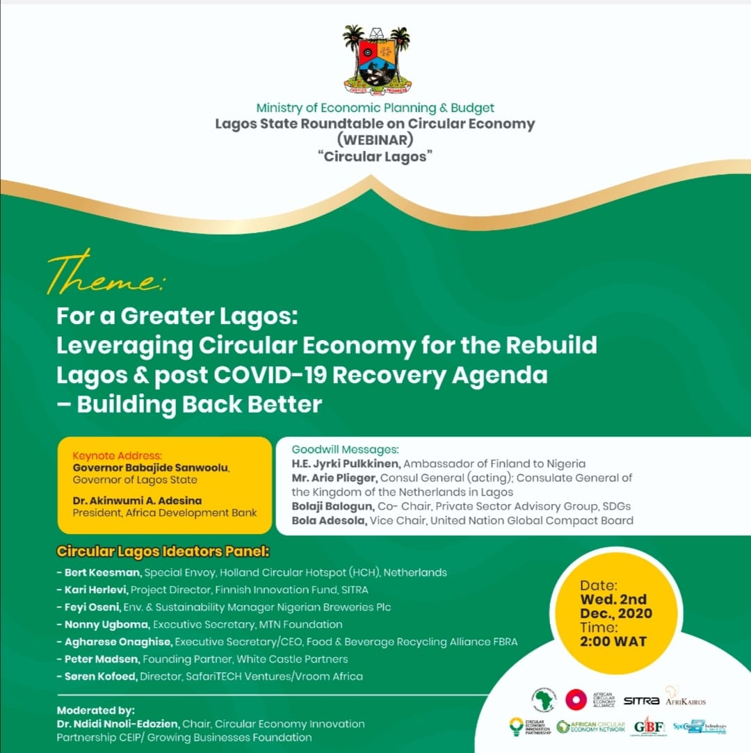 Leveraging Circular Economy for the Rebuild of Lagos and Post Covid 19 Recovery Agenda